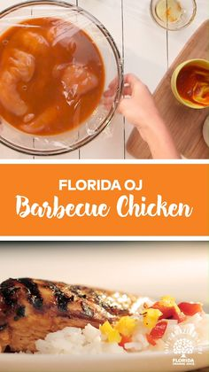 Florida OJ Barbecue Chicken - Orange You Glad It's Dinner Time? Grilling Recipes, Cooking Recipes, Healthy Recipes, Orange You Glad, Good Food, Yummy Food, Tasty, Barbecue Chicken, Diy Food