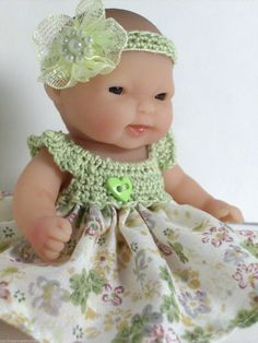 "Doll Clothes Outfit 5"" Berenguer Lots to Love Dress by Paulineannecrochet Afatc 