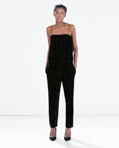 ZARA - NEW THIS WEEK - TRANSPARENT CHECK TROUSERS