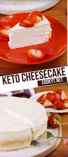 Keto Cheesecake Cupcakes – The Keto Diet Recipe Cafe Kid Desserts, Sugar Free Desserts, Low Carb Desserts, Dessert Recipes, Cheesecake Brownies, Low Carb Cheesecake Recipe, Healthy Cheesecake, Key Lime, Stevia