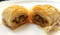Persian Pistachio Baklava - A Nutty Collaboration! This is very close to a recipe I have that contains primarily almonds with some pistachios.