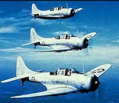 USN Douglas SBD Dauntless dive bombers