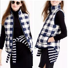 J. Crew Buffalo Plaid Puffer Vest J Crew factory puffer vest.  Brand new with tags size small.  Price is firm. Jackets & Coats Vests