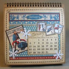 Click to see more amazing pictures of Annette Green's Place in Time calendar! #graphic45 #calendar