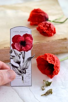 DIY some gorgeous French Poppy Tags Different ways! With Diana from Dreams Factory for Graphics Fairy. Free Printable is included with this lovely Craft Tutorial. Craft Tutorials, Craft Projects, Craft Ideas, Graphics Fairy, Printable Crafts, Free Printable, Craft Images, Poppies, Tag Art