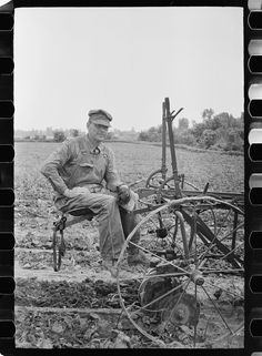 Mr. Liston Barnes, resettled farmer who lived in Martin County, Wabash Farms, Indiana Photographer Arthur Rothstein May 1938