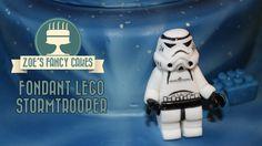 Fondant lego Stormtrooper Star Wars birthday cake topper