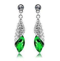 Win a Green Crystal Teardrop Earrings!