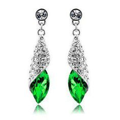 Win a Green Crystal Teardrop Earrings!