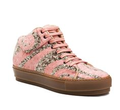 Cleo tweed brown/apricot spiral high top sneakers #AcneStudios #shoes #sneakers #FallWinter2014