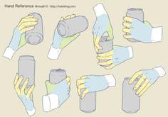 Drawing Tips 手のイラスト資料集 -Hand Reference Hand Drawing Reference, Drawing Reference Poses, Anatomy Reference, Drawing Poses, Drawing Tips, Drawing Hands, Drawing Ideas, Anatomy Drawing, Manga Drawing