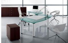Bacco Glass Desk by Tonelli