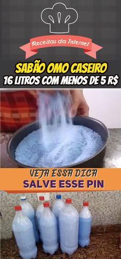 SABÃO AZUL OMO CASEIRO. FAÇA 16 LITROS COM MENOS DE R$ 5,00 #sabao #omo #sabaocaseiro #dicasaseiras #dicas #limpeza