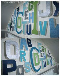 nursery alphabet art