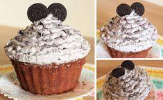 La torta cupcake gigante è una torta golosa al cioccolato e biscotti, ideale come torta di compleanno! Questa torta è molto semplice da realizzare,
