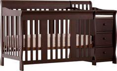 Portofino Espresso Crib and Changer Combo