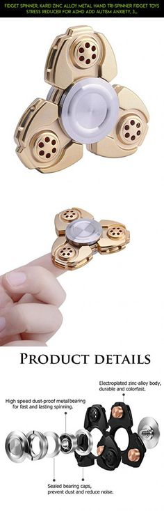 Fidget Spinner, Karei Zinc Alloy Metal Hand Tri-spinner Fidget Toys Stress Reducer for ADHD ADD Autism Anxiety, 3 - 5 Mins Noiseless Spinning, Fashion Design #gadgets #fpv #parts #drone #camera #money #products #plans #tech #racing #technology #metal #kit #spinner #shopping