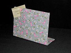 """Pink Ribbon Magnetic Board - Desktop for Photos or Encouragement Notes - (8"""" x 6"""")"""