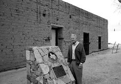 Former THC Commissioner Frank Gorman, who looks back on the early days of the Texas Historic Courthouse Preservation Program and the impetus for the creation of the Courthouse Stewardship Program. Pictured: Gorman in front of the Old County Jail in San Elizario, prior to restoration.