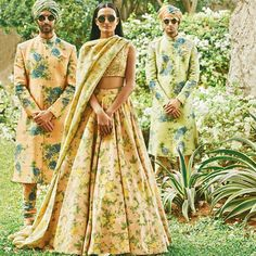 Sabyasachi floral lehenga. Shop for your wedding with a personal shopper & stylist in India - Bridelan, visit our website www.bridelan.com #Bridelan #Sabyasachi