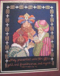 Cross Stitch Nativity - 3 Kings