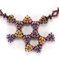 Chocolate and Raspberry Beaded Molecules - INSPIRATION