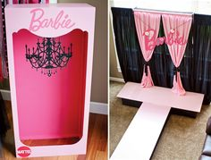 "{Fashion Runway} Stylish PINK #Barbie Party Runway and ""Barbie Box"" Photo Booth"