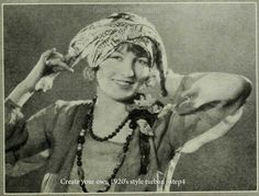 How to make and tie a turban - The latest report from our time traveling fashion correspondent Caroline Van Wycks – from 1926. The big craze this year was The 1920′s Flapper Turban!
