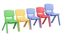 ECR4KIDS Plastic Stackable Chair-Set of 6 Chairs - Classroom Tables and Chairs at Hayneedle