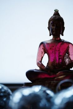 serenity found in fuchsia...current inspiration for #LitanyFall2014 #BuddhasandYogis