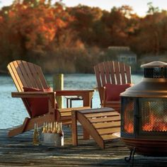 Shop our Adirondack furniture for the best selection and price. Our Adirondack chairs, rockers and side tables are durable and look great anywhere outdoors. Adirondack Furniture, Adirondack Chairs, Outdoor Furniture Sets, Funky Furniture, Furniture Design, Lakeside Living, Outdoor Living, Lakeside Cabin, Outdoor Spaces