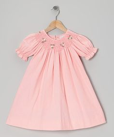 Take a look at this Pink Corduroy Bishop Dress - Infant & Toddler by Fantaisie Kids on #zulily today!