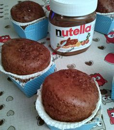 Mini plumcake al cacao Nutella Bar, Nutella Muffins, Muffin Recipes, Cake Recipes, Dessert Recipes, Mini Desserts, Just Desserts, Queso Fundido, Something Sweet