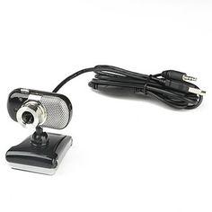 3-LED clássico Desktop 5.0 Megapixels USB 2.0 Clip-on câmera webcam com microfone PC – BRL R$ 31,00
