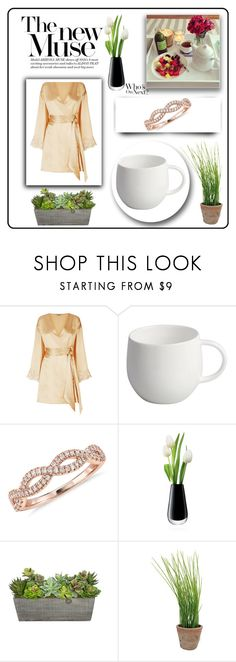 """breakfast on the bed"" by selin-richie ❤ liked on Polyvore featuring La Perla, Alessi, Blue Nile, LSA International and Esschert Design"