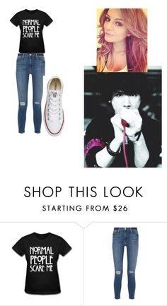 """""""date taka one OK rock"""" by ilovesu-11 ❤ liked on Polyvore featuring beauty, Frame Denim and Converse"""