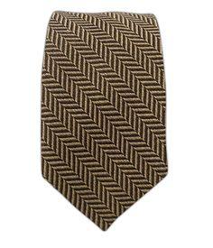 Wool Herringbone - Brown/Taupe (Skinny)