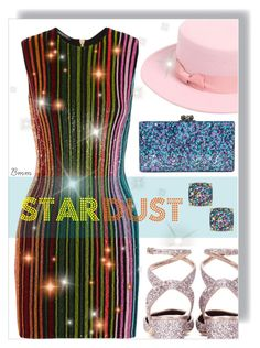 """""""Stardust"""" by bianca1408 ❤ liked on Polyvore featuring Balmain, Kate Spade, Lack of Color, Jimmy Choo and Edie Parker"""