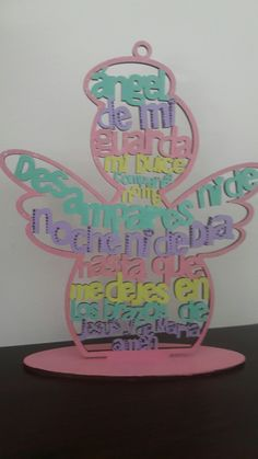 Ángel de la guarda madera Recuerdos Primera Comunion Ideas, Baby Girl Baptism, Crosses Decor, Princess Room, Ideas Para Fiestas, First Communion, Laser, Sacramento, Holidays And Events