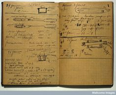 Marie Curie's experimental notebook - which after almost a hundred years, is still incredibly radioactive! All of her notes and books can only be handled safely using radiation gear and are stored in lead lined boxes.