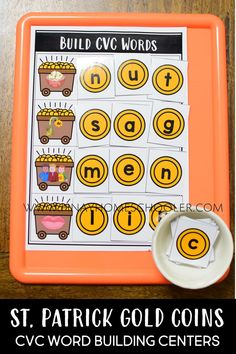 Thematic CVC Word Building materials and activities that are perfect for centers and homeschool settings. This HANDS-ON CVC WORD BUILDING Activity Pack is one of the favourite activities from our MEGA UNITS. It is a hands-on activity for learning, reading and forming CVC words and promotes imaginary play. #preschool #kindergarten #literacy #phonics