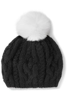3e475448e63 Eugenia Kim - Genevieve pompom-embellished cable-knit baby alpaca beret