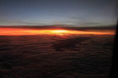Sunset @ 35,000 ft.