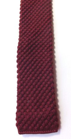 VINTAGE 1950s/1960s CHILDS BOYS NECK TIE Skinny Knitted BURGUNDY MOD FREE P&P #Unbranded #Tie