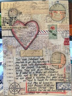Art journal inspiration: I love the idea of images that help to remember times and travels. When words and images come together, magic happens! #art jornalling #art Journal #travel journal