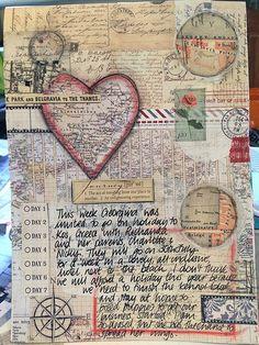 Art journal inspiration: Travel art journal page