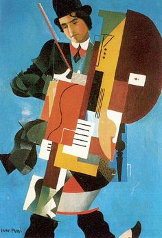 The Synthetic Musician. Ivan Puni was a Russian avant-garde artist (Suprematist, Cubo-Futurist).