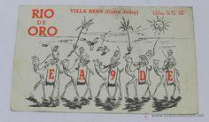 POSTAL DE RADIO AFICIONADO, RIO ORO, VILLA BENS (CABO JUBY), EA9DE, CIRCULADA. - Foto 1