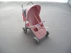 1/12th scale  modern 4 wheel stroller/ buggy/ baby carriage/ pushchair, hand crafted miniature via Etsy