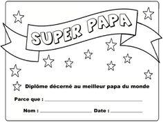 Imprimer carte dipl me du meilleur papa du monde remplir diplome papa et imprimables - Diplome du super papa a imprimer gratuit ...